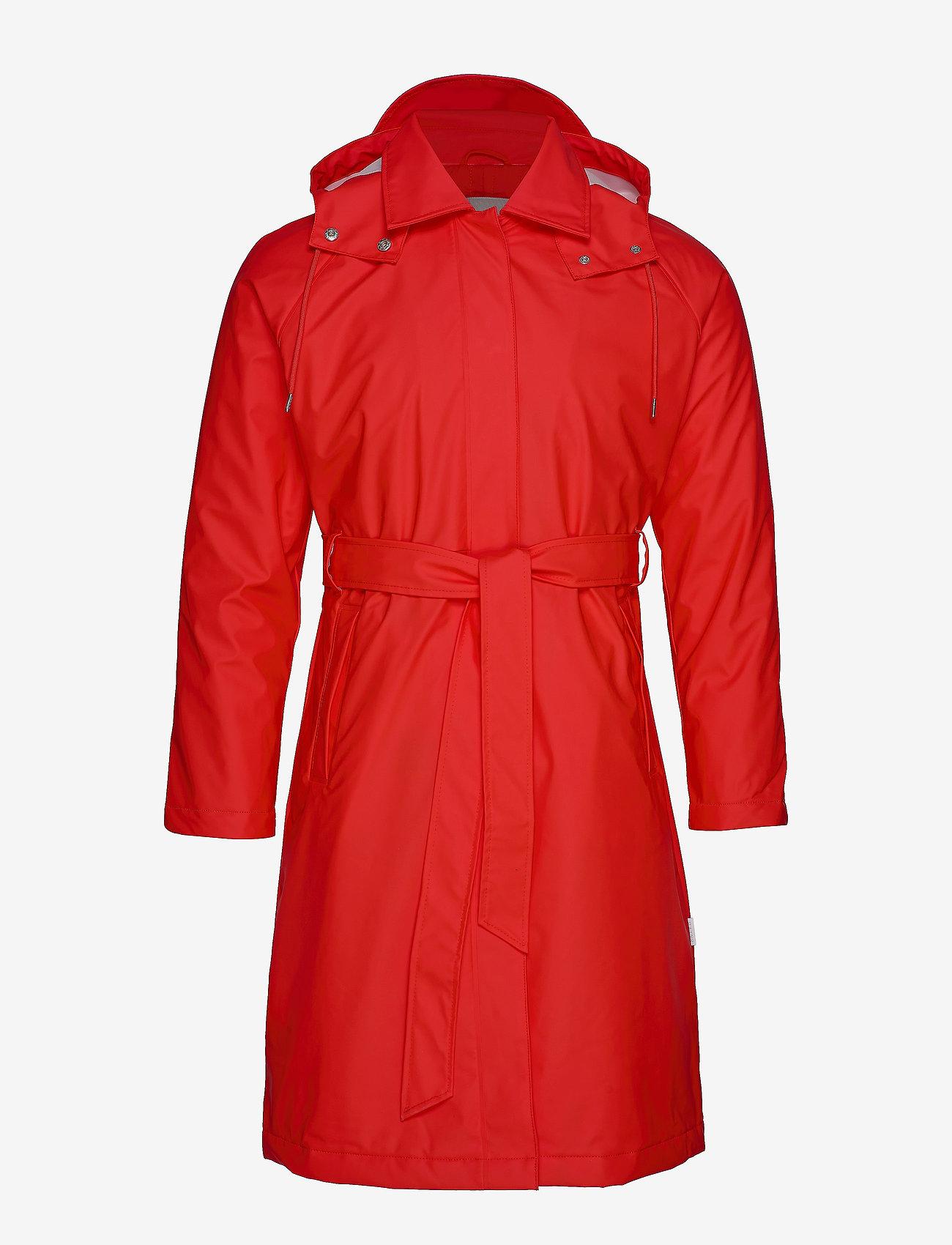 Rains - W Trench Coat - regenbekleidung - red - 1