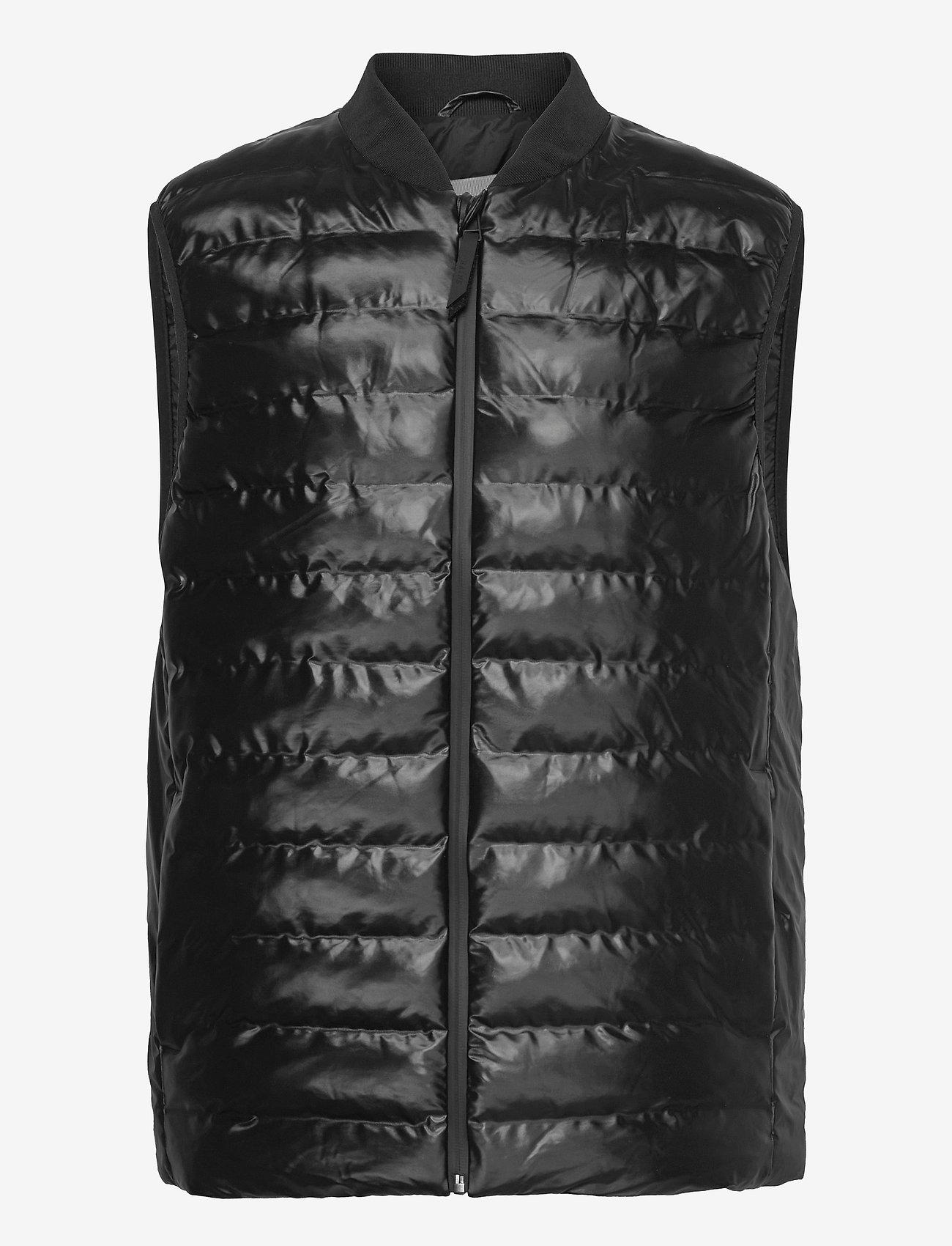 Rains - Trekker Vest - vestes rembourrées - 76 shiny black - 0