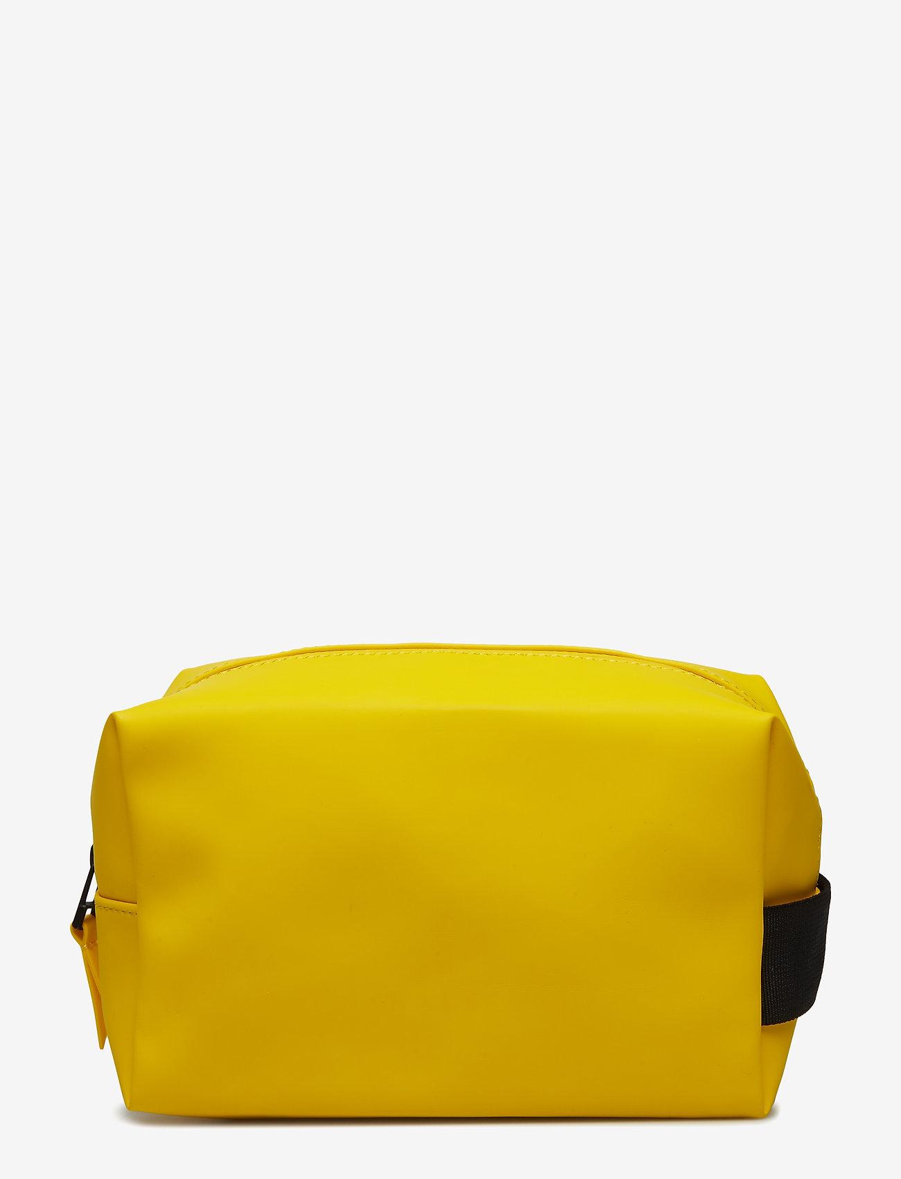 Rains - Wash Bag Small - toilettassen - 04 yellow - 0