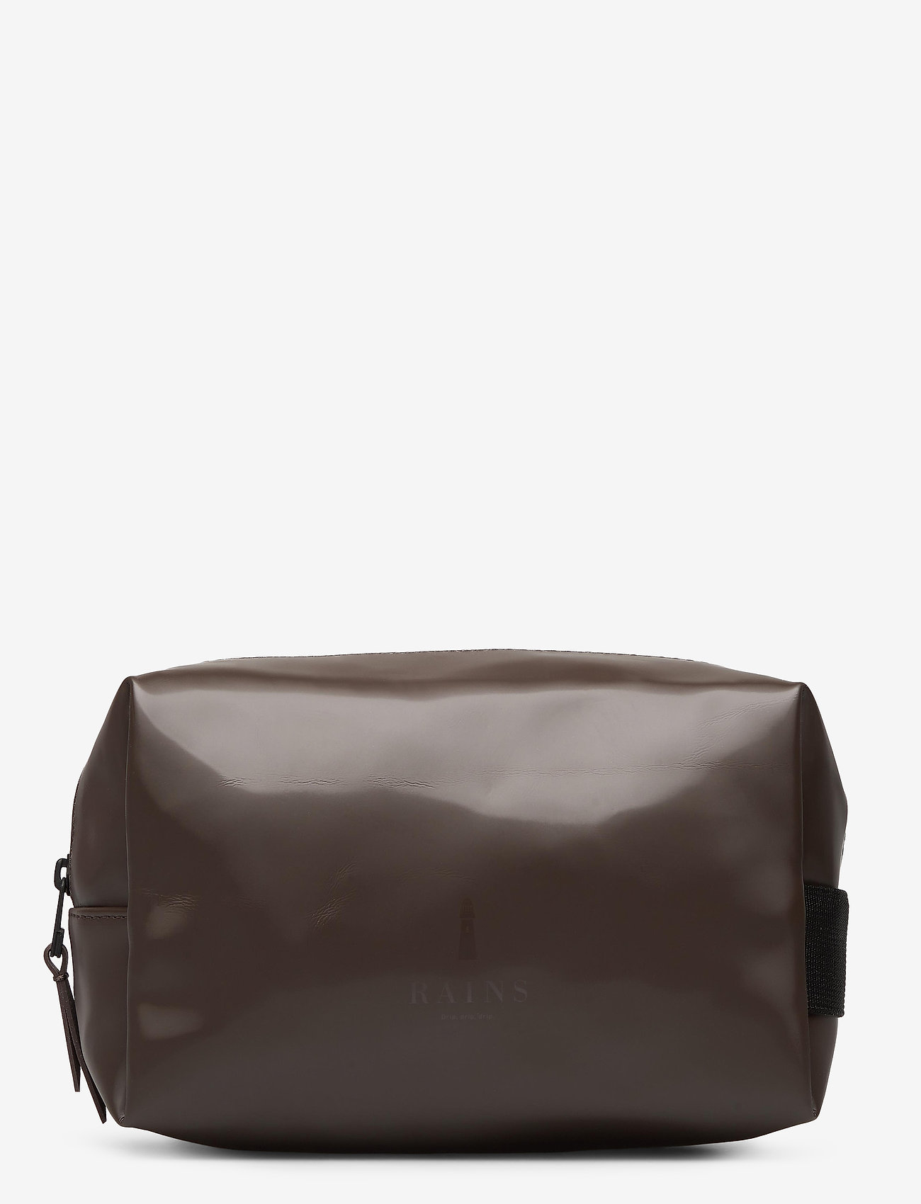 Rains - Wash Bag Small - kulturtaschen - shiny brown - 0