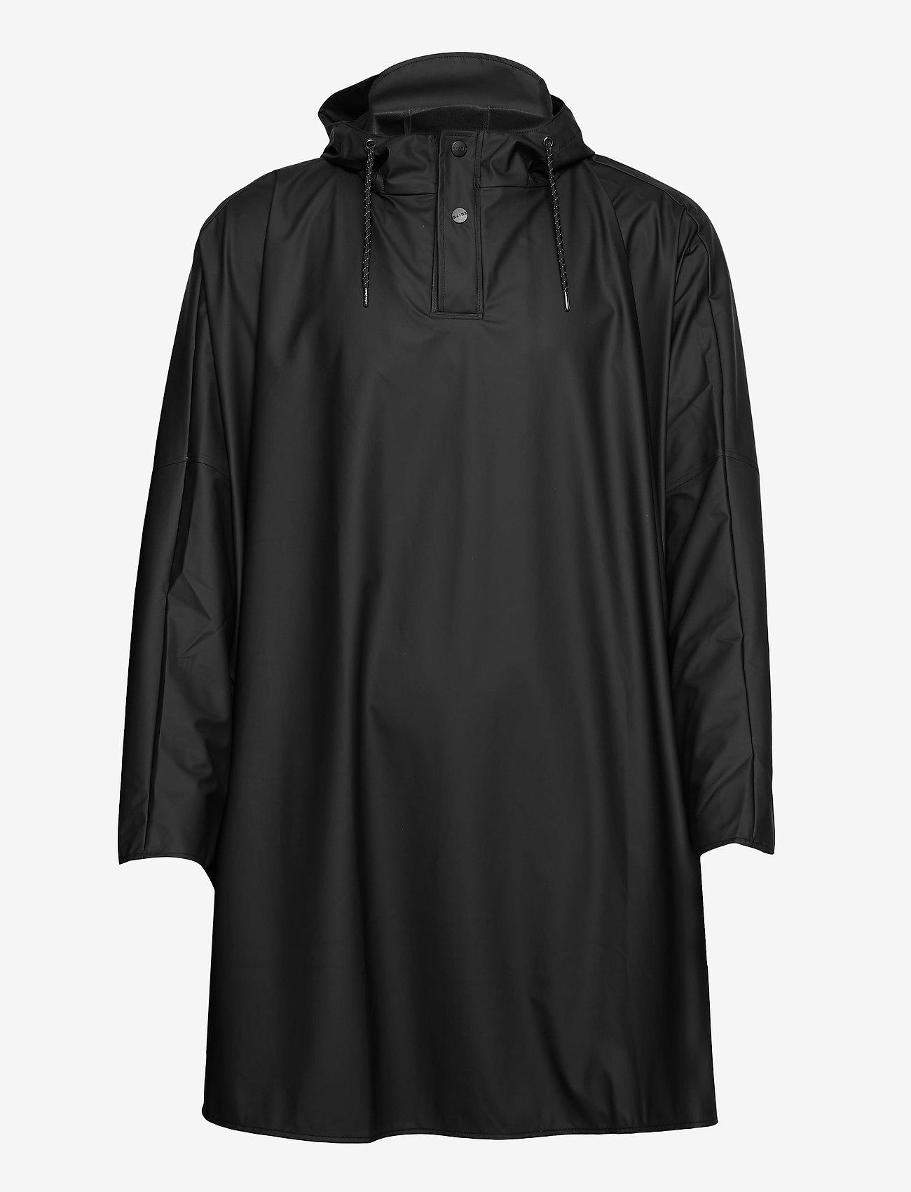 Rains - Cape - manteaux de pluie - 01 black - 0