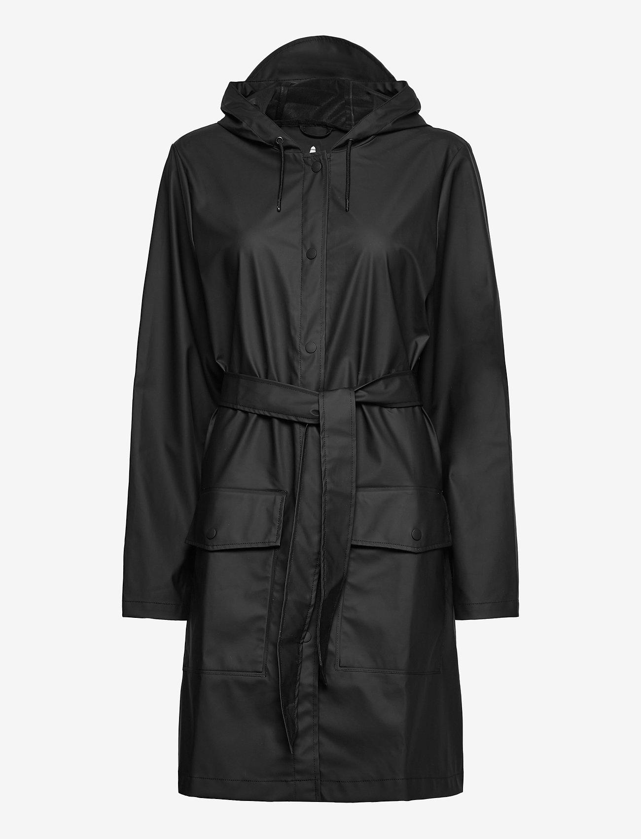 Rains - Belt Jacket - manteaux de pluie - 01 black - 0