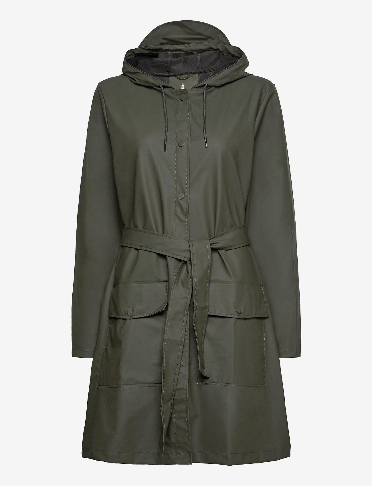 Rains - Belt Jacket - manteaux de pluie - 03 green - 0