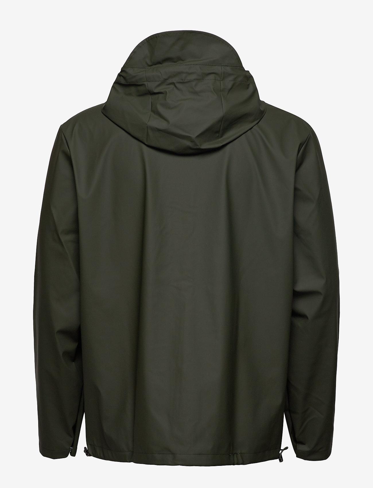 Rains - Short Hooded Coat - regenbekleidung - 03 green - 1
