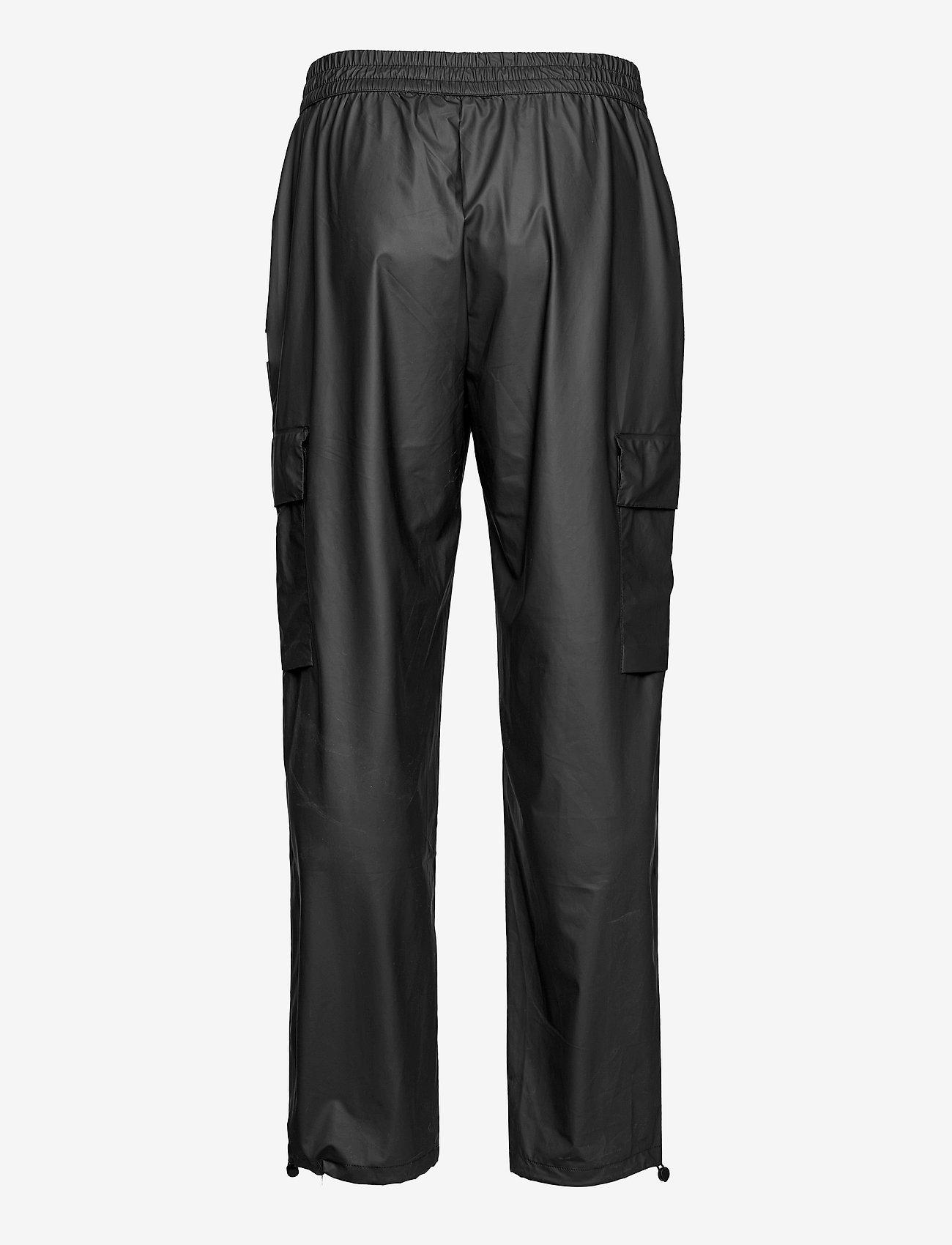 Rains - Ultralight Cargo Pants - regnbukser - 01 black - 1
