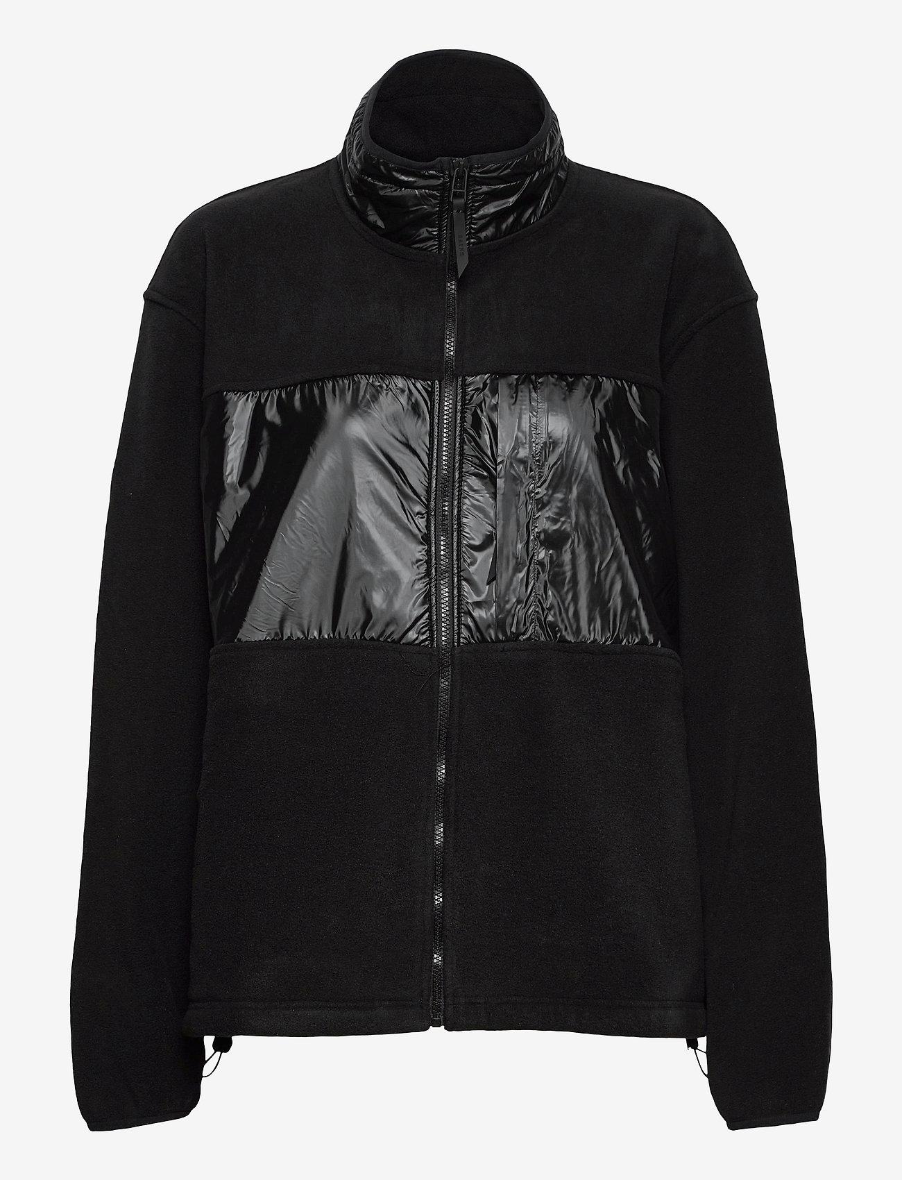 Rains - Fleece Jacket - basic-sweatshirts - 01 black - 0