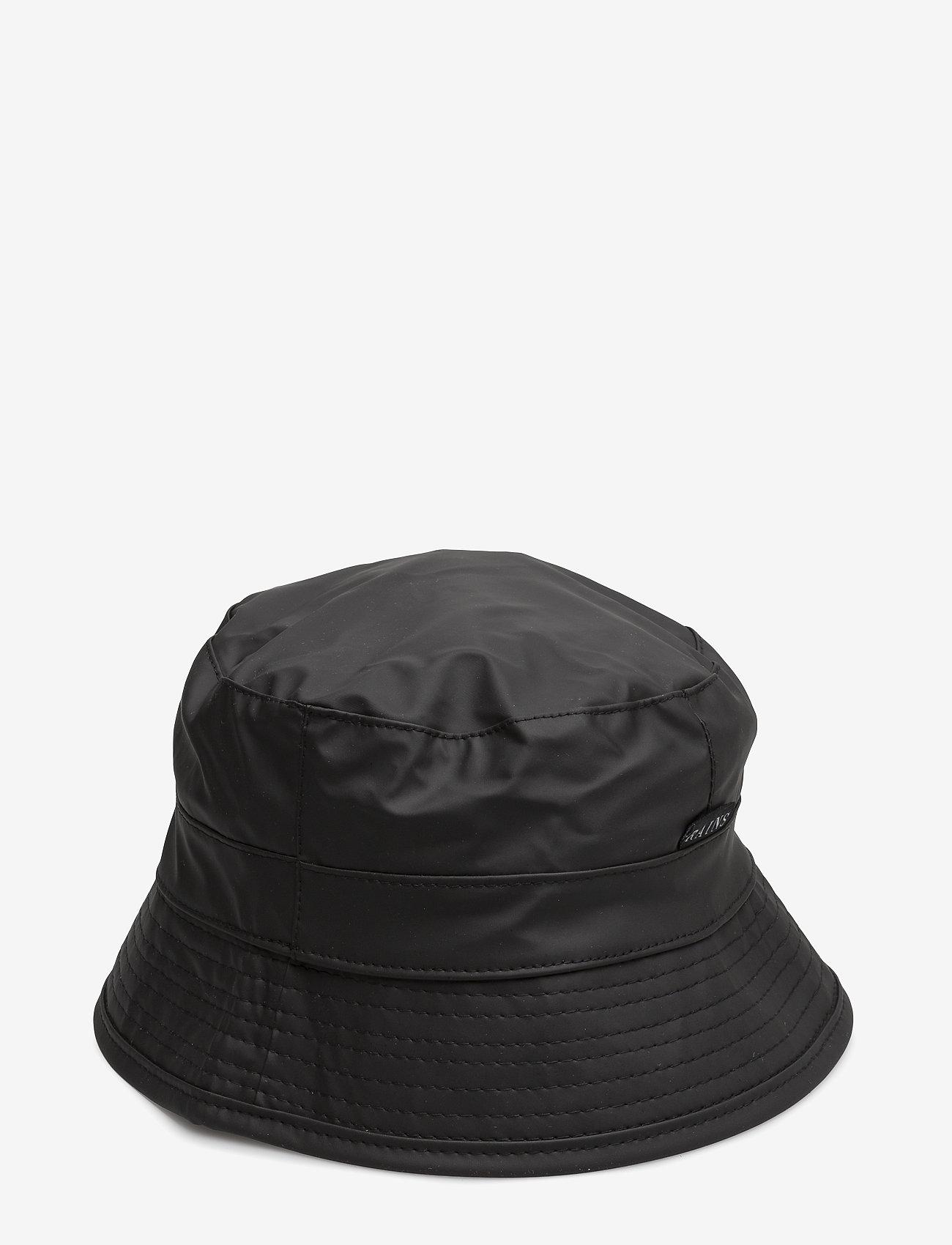 Rains - Bucket Hat - mützen & caps - 01 black - 0