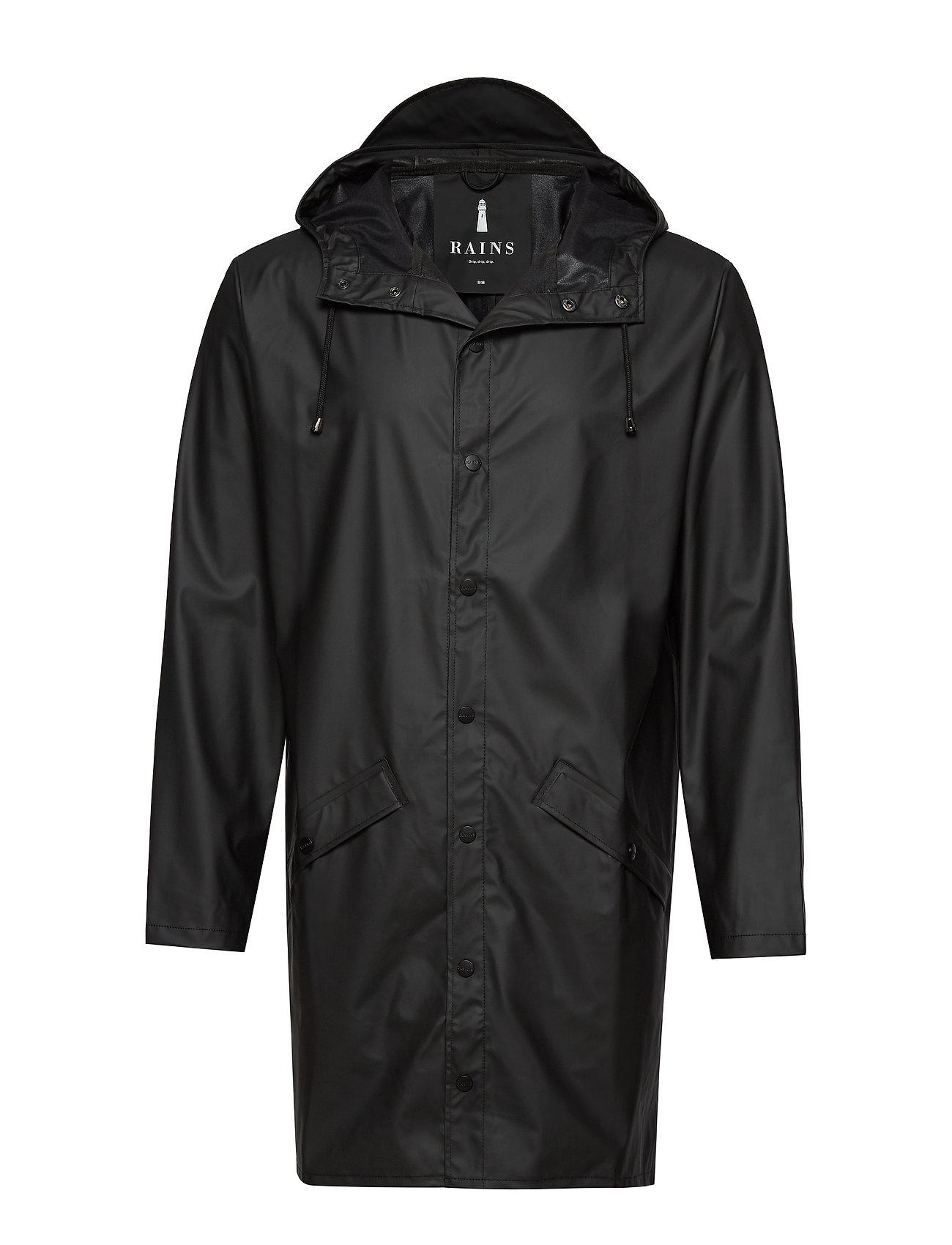 Rains Long Jacket - 01 BLACK