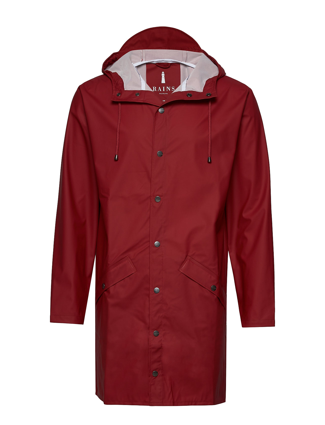 Rains Long Jacket - 20 SCARLET