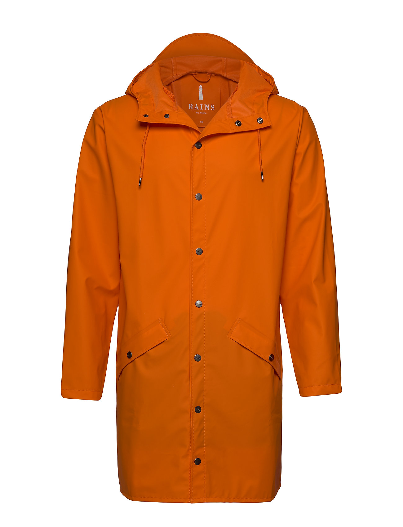 Rains Long Jacket - 83 FIRE ORANGE