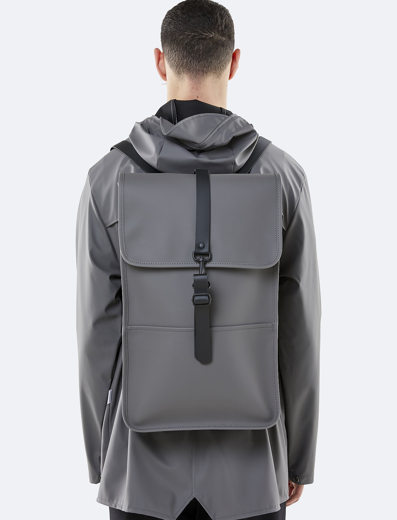 Rains - Backpack - rucksäcke - 18 charcoal - 0