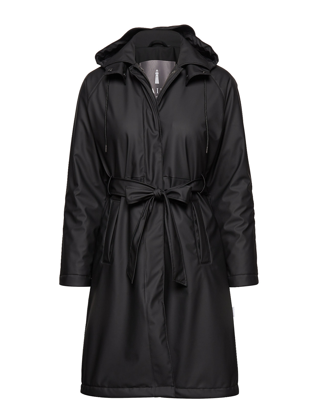 Rains W Trench Coat - 01 BLACK
