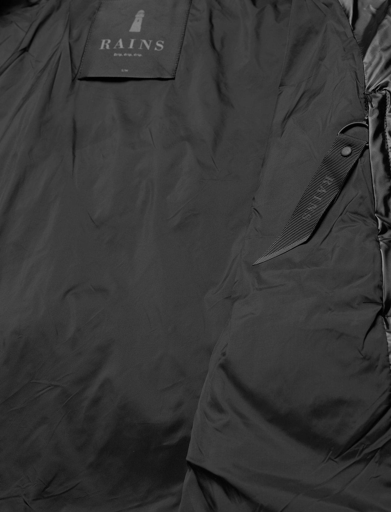 Rains Boxy Puffer Jacket - Jakker & Kåper 76 SHINY BLACK - Menn Klær