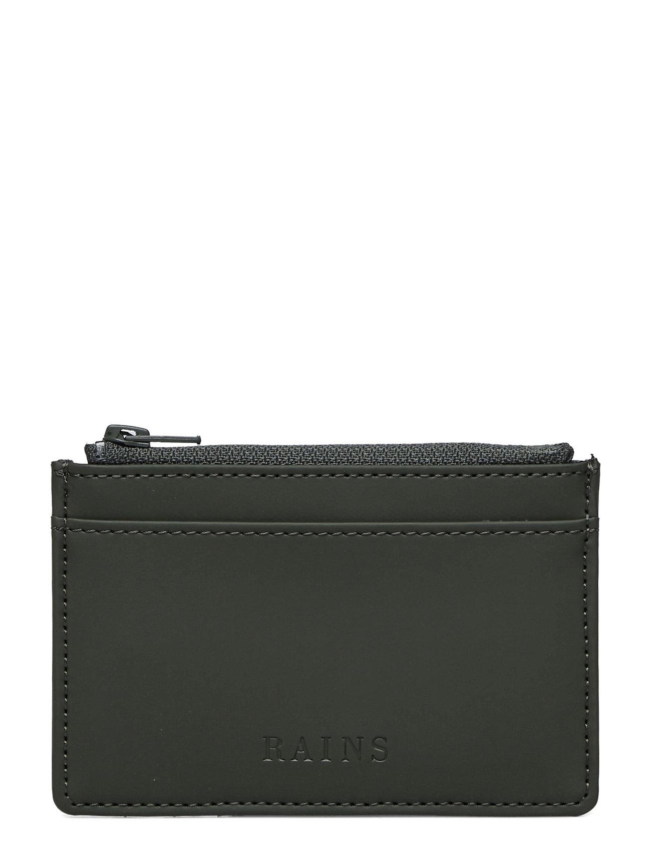 Zip Wallet Accessories Wallets Cardholder Grøn Rains