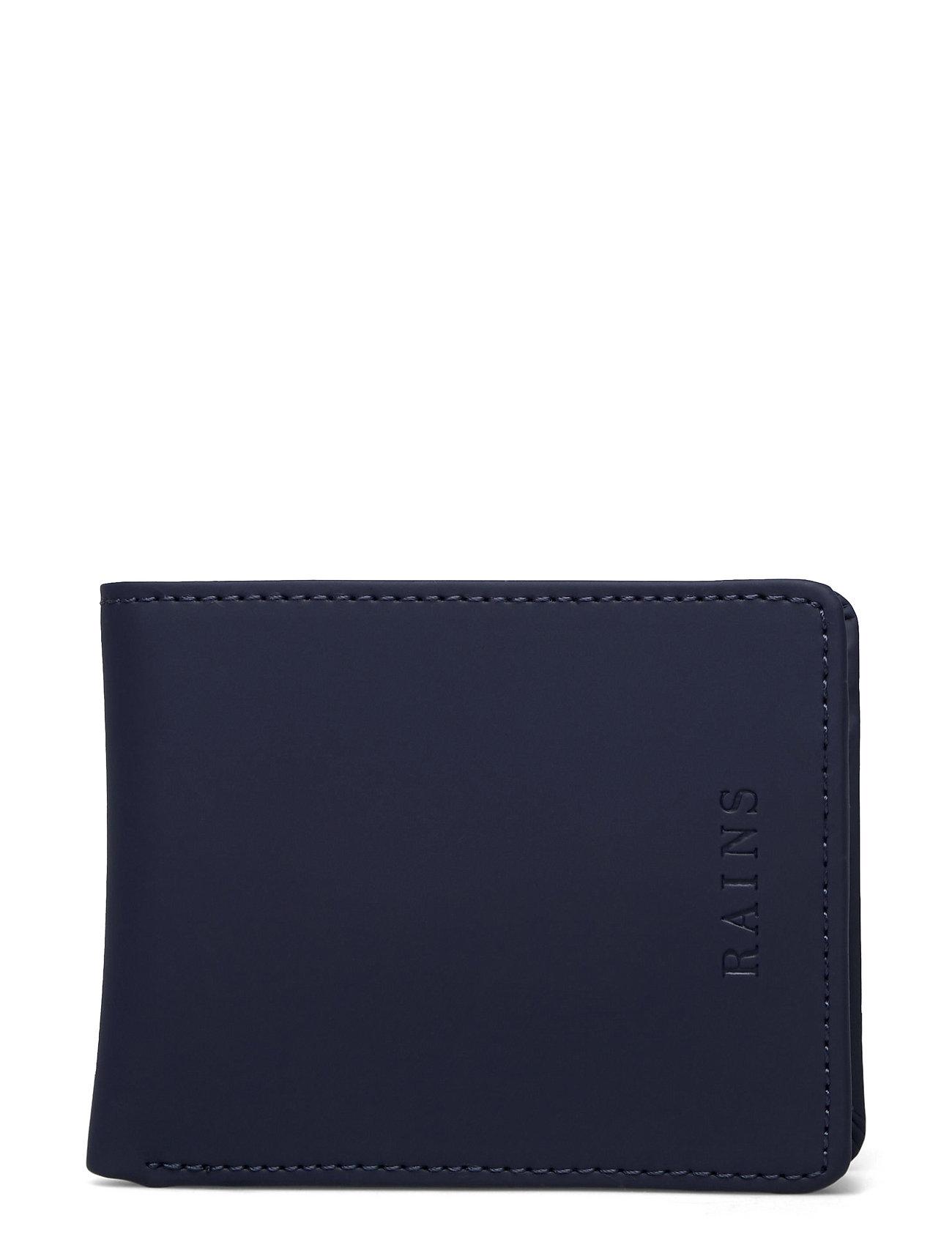 Folded Wallet Accessories Wallets Cardholder Blå Rains