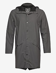 Rains - Long Jacket - regenbekleidung - 18 charcoal - 0