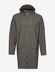 Rains - Long Jacket - regenbekleidung - charcoal - 1