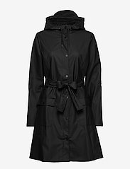Rains - Curve Jacket - regnjakker - 01 black - 2