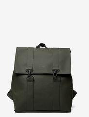 Rains - Msn Bag - rucksäcke - green - 0