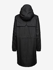 Rains - Long W Jacket - regenbekleidung - black - 1