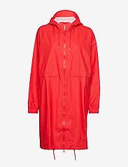 Rains - Long W Jacket - regenbekleidung - red - 0
