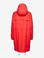 Rains - Long W Jacket - regenbekleidung - red - 1