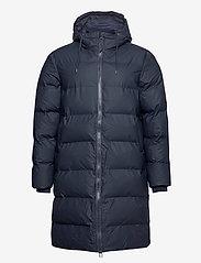 Rains - Long Puffer Jacket - fodrade jackor - 02 blue - 2