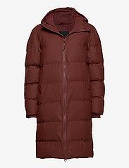 Rains - Long Puffer Jacket - fodrade jackor - 11 maroon - 0