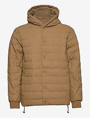 Rains - Trekker Hooded Jacket - vestes matelassées - 49 khaki - 0