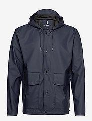Rains - Short Hooded Coat - manteaux de pluie - 02 blue - 0