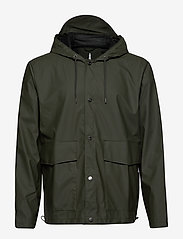 Rains - Short Hooded Coat - regenbekleidung - 03 green - 0