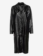 String Overcoat - 76 SHINY BLACK