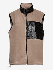 Rains - Fleece Vest - puffer vests - 17 taupe - 0