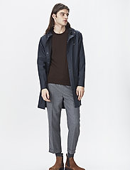 Rains - Long Jacket - regenbekleidung - 02 blue - 0