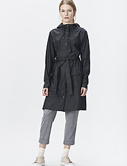 Rains - Curve Jacket - regnjakker - 01 black - 0
