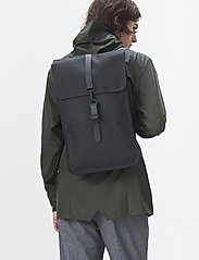 Rains - Backpack - väskor - 01 black - 8