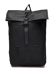 Roll Top Rucksack - 01 BLACK