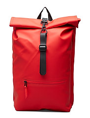 Roll Top Rucksack - RED