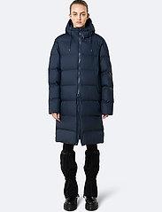Rains - Long Puffer Jacket - fodrade jackor - 02 blue - 0