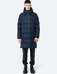 Rains - Long Puffer Jacket - fodrade jackor - 02 blue - 5