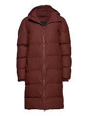 Long Puffer Jacket - 11 MAROON