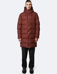 Rains - Long Puffer Jacket - donsjassen - 11 maroon - 5