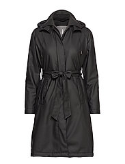 W Trench Coat - BLACK