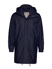 Long Quilted Parka - BLUE