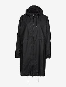 Long W Jacket - sadevaatteet - black