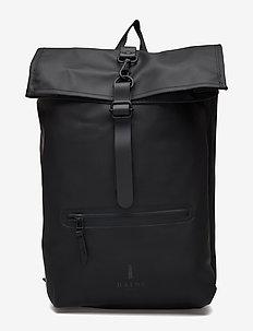 Roll Top Rucksack - ryggsäckar - 01 black