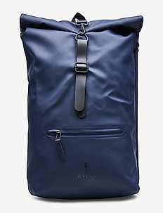 Roll Top Rucksack - laukut - blue