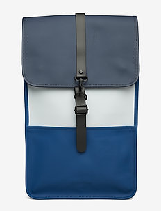 Color Block Backpack - BLUE/ICE GREY