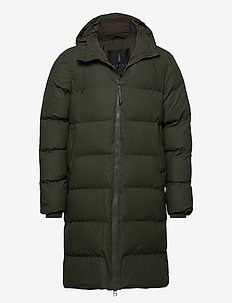 Long Puffer Jacket - padded jackets - 03 green