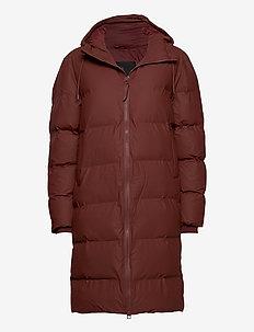 Long Puffer Jacket - forede jakker - 11 maroon